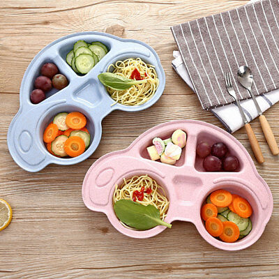 Baby Bowls Plate Tableware Children Cartoon Car Food Container Placemat Dishes