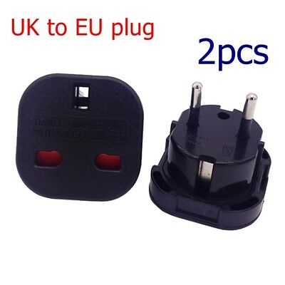 Universal Socket Plug Adapter UK to EU plug Travel Charger AC Power Converter