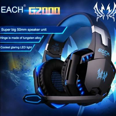 3.5mm Gaming Headset Mic LED Headphones Stereo Surround for Xbox ONE 360 PS3 PS4