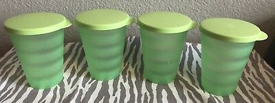 Tupperware Impression Tumblers 12oz Light Green Set of Four No Straw Seal New