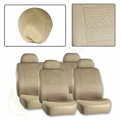 10PCS Full Set Protective Beige Embossed Car/Auto Seat Covers For Volvo Mini VW