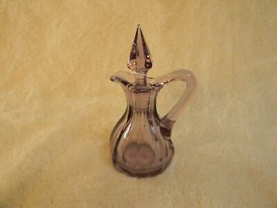 Vintage purple glass, CRUET with STOPPER, Sun glass