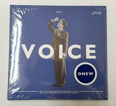 Shinee Onew-[Voice]1st Solo Mini Album B Ver CD+Poster+Book+Card+Gift+Tracking