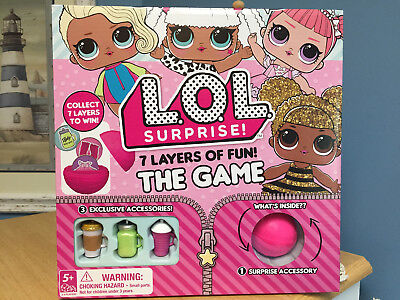 NEW LOL Surprise Doll 7 Layers Of Fun Board Game! Limited ~Authentic! NIB WM1a