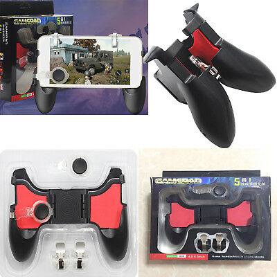 5in1 Gaming Trigger Gamepad Controller L1R1 Shooter Fire Button for PUBG Mobile