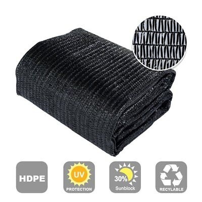 Large 10X20ft New Design 30%UV Black Outdoor Garden Canopy Shade Cloth Fabric
