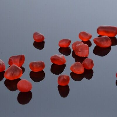 60 Pieces Undrilled Sea Beach Glass Beads Red Jewelry Use Pendant Decor 8-12mm