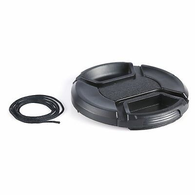 55MM Snap-on Center-Pinch Lens Cap Protective Cover for All DSLR Camera Lens