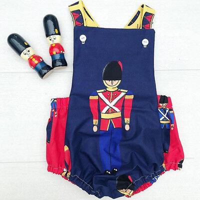 AU STOCK Newborn Baby Boy Girl Christmas Cartoon Romper Bodysuit Outfits Clothes