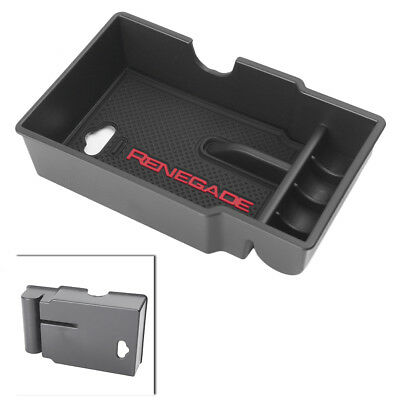 Car Armrest storage container Tray for Jeep Renegade 2015-2017 Center Console