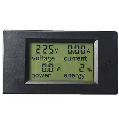 AC 80-260V LCD Digital 20A Volt Watt Power Meter Ammeter Voltmeter Durable