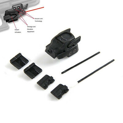 Tactical Mini Red Laser Sight Light Rail Mount For Pistol Airsoft Universal