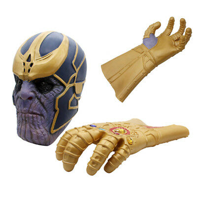 The Avengers Thanos Infinity Gauntlet Cosplay Gloves Prop Halloween Latex Toys