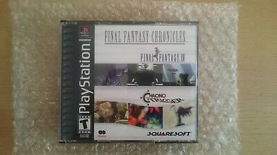 Final Fantasy Chronicles Final Fantasy IV + Chrono Trigger Playstation RARE