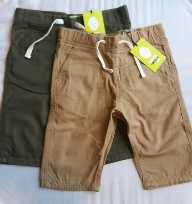 Boys 2 Pack Canvas Cargo Shorts-KIDS Trousers by Twisted Gorilla BNWT-JEANS PANT