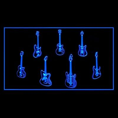 140092 Guitar Weapons Band Hero Buy Sell Trade Display LED Light Sign