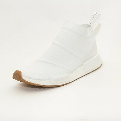 new product 040cb a0dd2 Mens Adidas NMD CS1 PK White White Gum Trainers (PF27) RRP £129.99