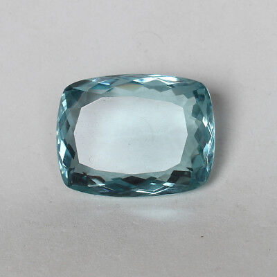 53.85 Ct. Natural Aquamarine Greenish Blue Color Cushion Cut Loose Gemstone
