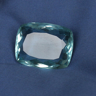 56.85 Ct. Natural Aquamarine Greenish Blue Color Cushion Cut Loose Gemstone