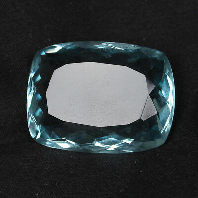 52.55 Ct. Natural Aquamarine Greenish Blue Color Cushion Cut Loose Gemstone