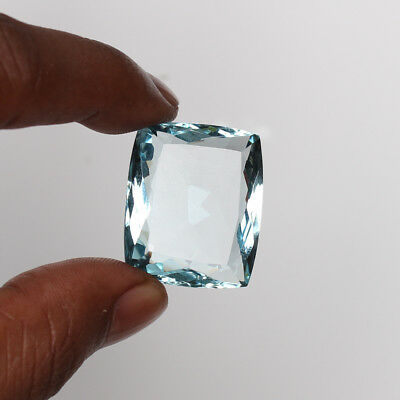 Natural 48.80 Ct. Aquamarine Greenish Blue Color Cushion Cut Loose Gemstone