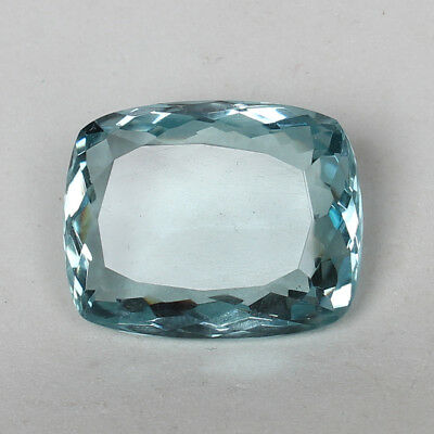 53.90 Ct. Natural Aquamarine Greenish Blue Color Cushion Cut Loose Gemstone