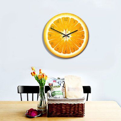 Fruit Shape Acrylic Round Wall Clock 28 Diameter Home Decor Wall Decortion CY /#