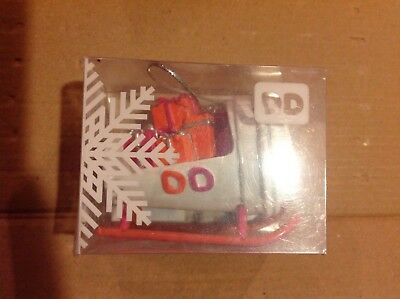 2015 Dunkin Donuts Ornament Sleigh Cup to Go Holiday New in Box Look