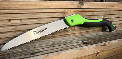Davaon Pro 250mm Pruning Saw - Powerful Quick Sharp Blade - triple cut teeth