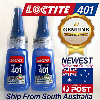 2X Loctite 401 20g/25ml Instant Adhesive Rapid Strong Super Glue Multi-Purpose