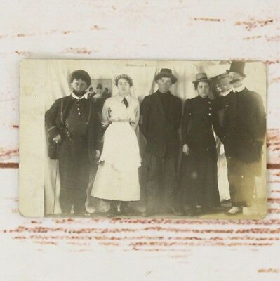 Antique 1910's Real Photo Postcard RPPC of Traveling Theater Group in Costume