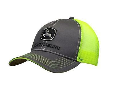 Men s John Deere Neon and Charcoal Hat   Cap - LP67045 8b89f61e80d2