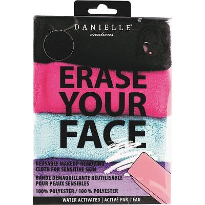 Danielle Creations Erase Your Face Makeup Removing Cloths Reusable Pack Of 4