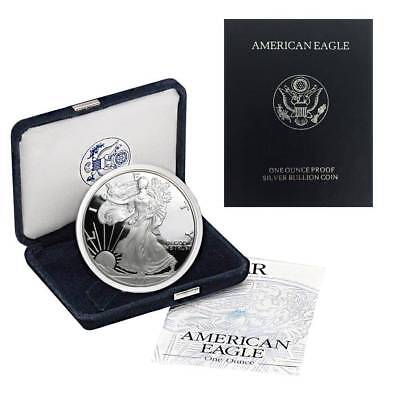 2002-W American Silver Eagle Proof (OGP & Papers)