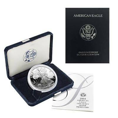 2004-W American Silver Eagle Proof (OGP & Papers)