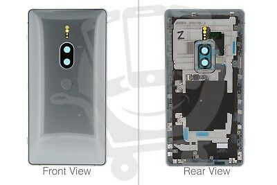Official Sony XZ2 Premium Dual H8166 Silver Battery Cover - 1312-4056