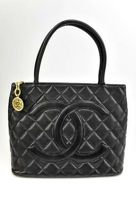 c3bc35b4fce8 CHANEL: Black, Quilted Caviar Leather &