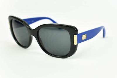 VERSACE: Black with Gold Metal Logo, Sunglasses (mn)