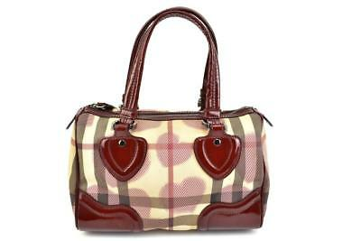 BURBERRY BLACK CHECK Embossed Patent Leather Tote Bag -  395.00 ... bb51ac4f0ab12