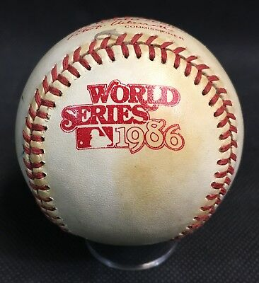 1986 World Series Baseball Unsigned Rawlings Ball New York Mets Boston Red Sox