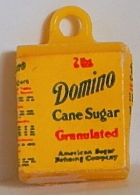 Vint Domino Cane Sugar Gumball Charm Advertising Product Grocery