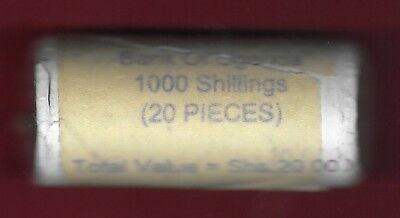 UGANDA REP 1000 SHILLINGS 2012 BU ROLL OF 20 COINS, 50th YEARS OF INDEPENDENCE,1