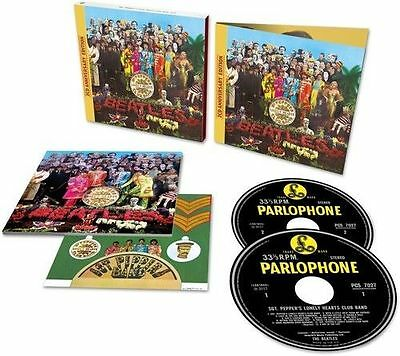 DELUXE Sgt Pepper's Lonely Hearts Club Band The Beatles 2 CD 50th Anniv Edition