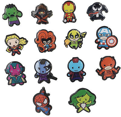 Marvel Collectible Lapel Pins - Set of 5 packs - Kawaii Style
