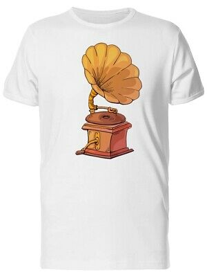 Cartoon Gramophone Illustration Men's Tee -Image by Shutterstock