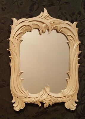 Vintage Syroco Wood Table/Wall Mirror Art Deco Ornate Antique made in N.Y.
