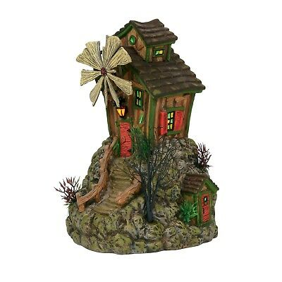 The Bone Grinder Mill Dept 56 Snow Village Halloween 6000663 animated windmill A