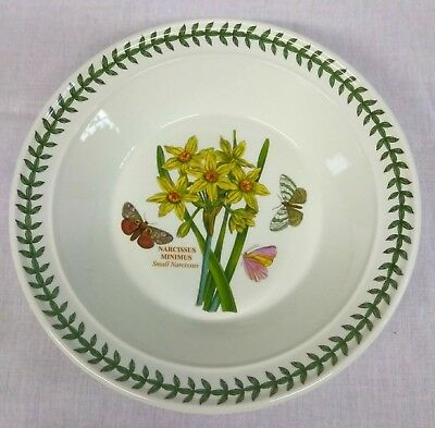 Portmeirion Botanic Garden Narcissus Minimus Small Narcissus Rimmed Soup Bowl