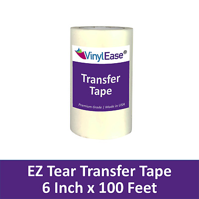 TWO 6 in x 100 ft Rolls of TEAR AWAY Transfer Tape for Sign Craft Vinyl