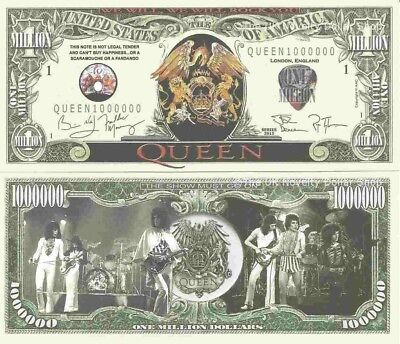 Queen We Will We Will Rock You Million Dollar Bills x 4 British Rock Band